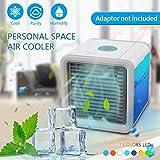 Mini Luftkühler Mobile Klimageräte Air Cooler mit Wasserkühlung Zimmer Raumentfeuchter Mini Klimaanlage ohne Abluftschlauch für Wohnung