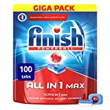 Finish All in 1 Max Pastiglie Lavastoviglie, Regular, 100 Capsule
