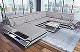 Sofa Dreams Stoffsofa Wohnlandschaft Napoli in XXL mit Beleuchtung
