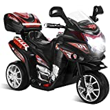Baybee Samurai Battery Operated Ride On Bike With Music, Horn, Headlights With 25 Kg Weight Capacity - Black