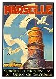 Reproduction d'art 'Marseille', de Beglia, Taille: 50 x 70 cm...