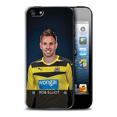 Offiziell Newcastle United FC Hülle / Case für Apple iPhone SE / Pack 25pcs Muster / NUFC Fussballspieler 15/16 Kollektion Elliot