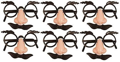 Costume Zorro Couple - German-Trendseller ® - lunettes avec nez et