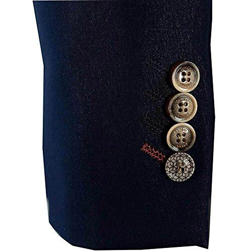 uomo 3 pezzi Jeans Abiti CAVANI BLAZERS PANTALONI GILET PARTY Giacca design SCURO JEANS - newfabian/Giacca