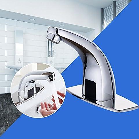 Infrarot Sensor Armatur vollautomatisch Wasserhahn Chrom Bad Waschtischarmatur