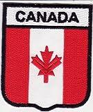"""Kanada Aufnäher Aufbügler Bügelbilder Sticker Applikation Iron on Patches für Frauen Kinder Jacken Jeans Stoff Kleidung Kleider Flaggen Fahnen zum aufbügeln"""" Kanada 7 x 6 cm """""""