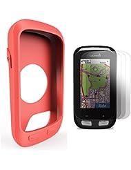 Garmin Edge 1000 / Approach G8 Silikon Schutzhülle + Display Schutz, TUSITA® Ersatz Schutz Bundle Soft Cover Case Lanyard Zubehör für Garmin GPS Fahrradcomputer