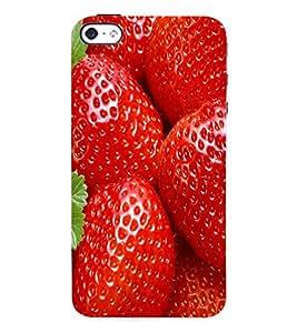 Fuson 3D Printed Strawberry Wallpaper Designer Back Case Cover for Apple iPhone 4 - D810