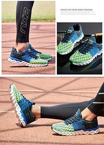 Scarpe da corsa uomo Uomo Scarpe da tennis traspirante ultraleggeri Scarpe da corsa Scarpe da passeggio all'aperto Blu scuro