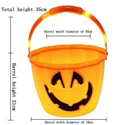 Halloween Kürbis Lichter Tragbare Kinder Halloween Süßigkeiten Dosen Laternen Mit Kürbis Fässer Bedeckt,I