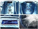 Outdoor Whirlpool Hot Tub Troja Spa mit 40 Massage Düsen + Heizung + Ozon Desinfektion + Beleuchtung für 5 – 6 Personen für Außenbereich - 3