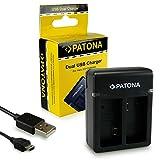 PATONA Cargador de batería doble AHBBP-301 | 302 para Batería GoPro Hero 3 3+ Black, White &...