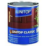 Levis Satin Linitop Classic, 1 Liter/helleiche 281 / seidenglänzende Holzschutzlasur für den Innen- u. Außenbereich, auf Lösemittelbasis (Wenge 289)