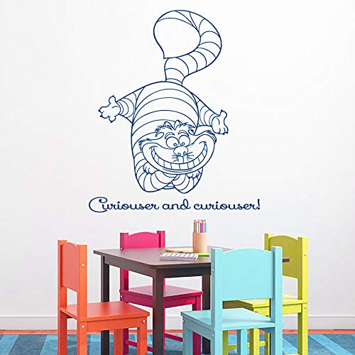 at Wandtattoo Zitat Neugieriger Und Neugieriger Vinyl Abnehmbare DIY Kinderzimmer Kunst Design Wandbild 42x52 cm ()