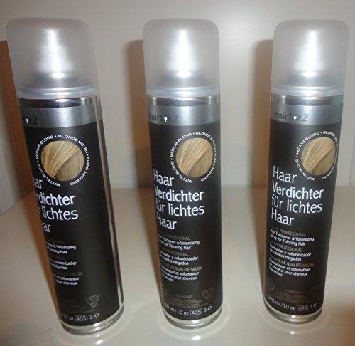 Vorratsangebot! 3 x Hairfor2 Haarverdichtungsspray 300ml (Schwarz)
