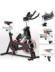 ISE Cardio vélo BikingSpinning Vélo d'Appartement Intérieur Noir 7003