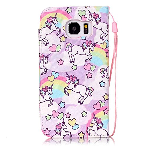 nancen Apple iPhone 4/4S (3,5 pollici) Custodia Custodia in pelle PU Bookstyle Case Smartphone Cover a Libro, nove stile premium versione migliorata chiusura magnetica [lunga chiusura] – Cover di prot licorne