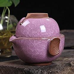 GENERIC G : Chinese pottery Binglie glazed Tea cup Pot multicolor Tea set Cup Tea pot Kettle mugs intelligent plasticine Travel Quik Cup