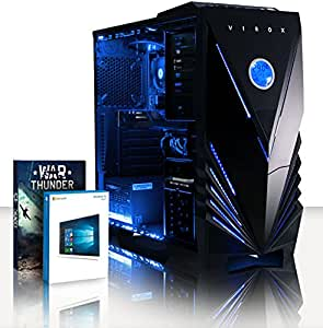 VIBOX Gaming PC - Sharp Shooter Ti 26 - 3.9GHz AMD A4 Dual Core APU, GTX 1050 Ti GPU, Desktop Computer with 2 Game Bundle, Windows 10 OS, Blue Internal Lighting and Lifetime Warranty* (3.7GHz (3.9GHz Turbo) Super Fast AMD A4-6300 Dual 2-Core APU/CPU Processor, Nvidia GeForce GTX 1050 Ti 4GB Graphics Card GPU, 32GB DDR3 1600MHz High Speed RAM Memory, 3TB (3000GB) Sata III 7200rpm Hard Drive HDD, 85+ Rated PSU Power Supply, Vibox Tactician Blue LED Gaming Case, FM2+ Motherboard)