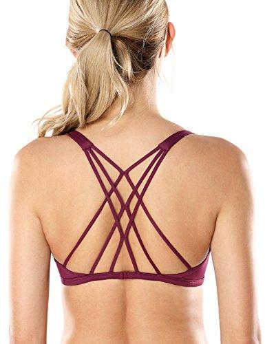 CRZ YOGA Sujetador Deportivo Yoga Para Mujer Ejercicio Fitness Ropa Interior Morado oscuro XS