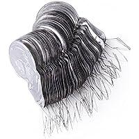 1 Satz von 50 silbergrauen Aluminiumdraht Einfädler Werkzeug Kürbis Stich Einfädler