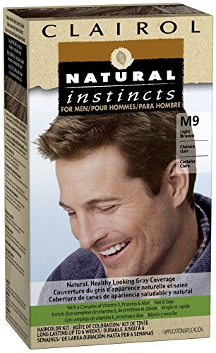 Clairol Colorant capillaire Natural Instincts - Pour Homme - Couleur M9 - Châtain clair