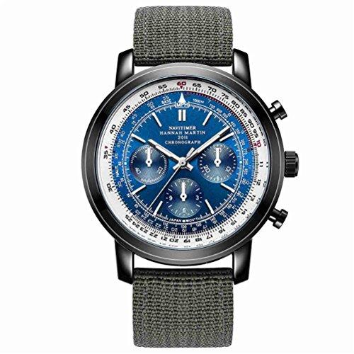 Herren Quarzuhr Runde Chronograph Lederband 30 Meter Military Waterproof Watch , 05