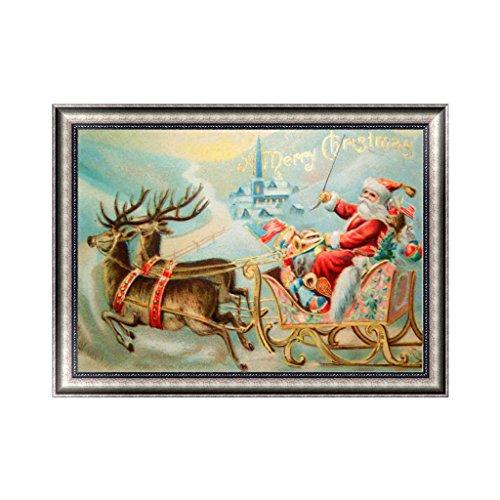 rawuin Weihnachten Santa Claus 5D Diamant Stickerei Gemälde DIY Craft Home Decor Xmas (# 594)