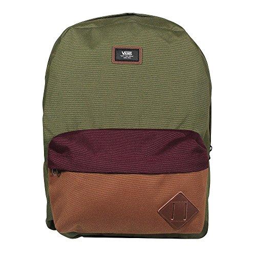 Vans Old Skool Ii Backpack Zaino Casual, 42 Cm, 22 Liters, Grigio (Heather Suiting) Multicolore (Grape Leaf Colorblock)