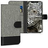 kwmobile Coque Apple iPhone XR Portefeuille - Étui à Rabat Simili Cuir pour Apple iPhone XR avec Compartiment Cartes Support