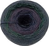 Bobbelino Farbverlaufsgarn Darkness dunkelblau-dunkelviolett-dunkelgrün-dunkelgrau 4 Farben 4 Fäden Lauflänge: ca.1.050m 50% Baumwolle - 50% Polyacryl Nadelstärke: 3-4