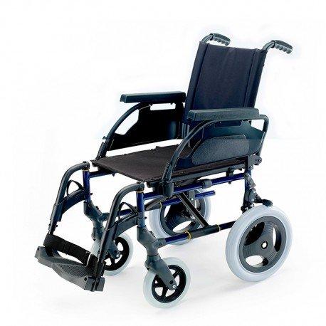 \'Zusammenklappbarer Rollstuhl-Breezy Premium Grau mit Rollen 24-40, Selen, NEUMATICAS