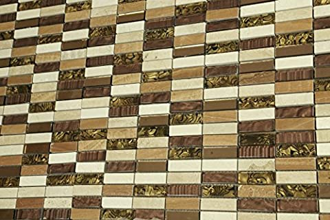 Sample of Savanna 'Tiger' Glass Mosaic