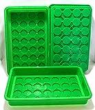 Anzucht/Pikierschalen Set, 3-teilig, stabiler Kunststoff, grün, Hobbygärtner