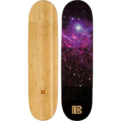 Bambus Skateboards Nebel Graphic Skateboard Deck mit A 6-lagig Bambus und Ahorn Hybrid Bj, natur - 9 Decks Skateboard Blank