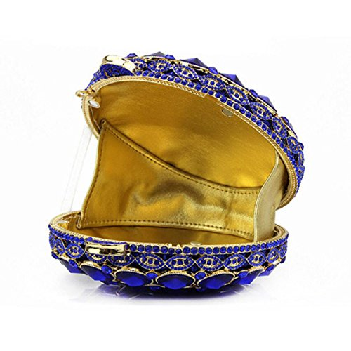 Piccola Squisita Rotonda Borsetta Abiti Di Moda Ornamenti Di Diamanti Borsa A Mano Festa Mini Borsa Da Sera Red