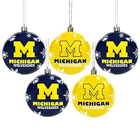 Michigan 2016 5 Pack Shatterproof Ball Ornament Set