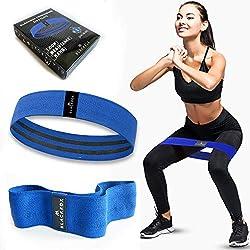 Blackrox Fitnessbänder Loop Band - Starkes und breites Band aus Stoff rutschfest Widerstandsbänder für Intensive Workouts für Krafttraining, Bodybuilding, Fitness Damen und Herren (BLAU-L)
