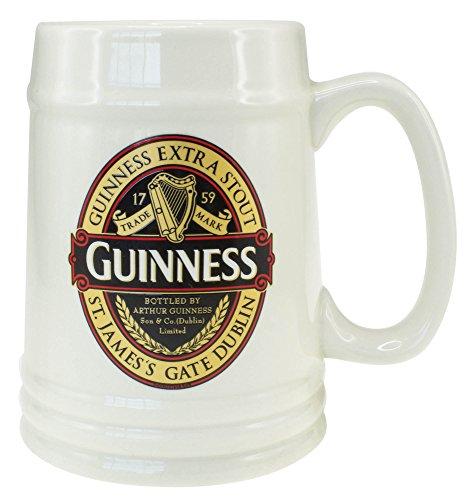 Guinness Colección clásica rojo jarra de cerámica
