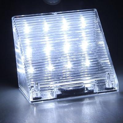 Solarstrahler 12 LED Wandleuchte mit Bewegungsmelder Außenleuchte Wandlampe Weiß von emall supply - Lampenhans.de