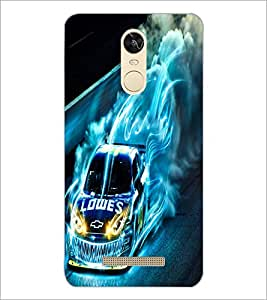 PrintDhaba Digital Car D-2227 Back Case Cover for XIAOMI REDMI NOTE 3 PRO (Multi-Coloured)