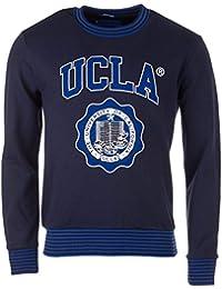 UCLA Sweat-shirt Piggott ras du cou pour homme, Bleu marine, Melange coton,
