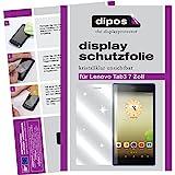 dipos I 2X Schutzfolie klar passend für Lenovo Tab3 8 Zoll Folie Bildschirmschutzfolie