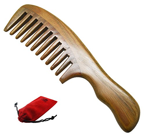 meta-c-wave-handle-natural-green-sandal-wood-comb-wide-tooth-by-meta-c