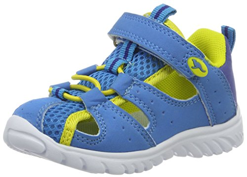 KangaROOS Unisex-Kinder Rock Lite II Geschlossene Sandalen, Blau (Blue/Acid Yellow), 24 EU (Mädchen Sandalen Kleinkinder)