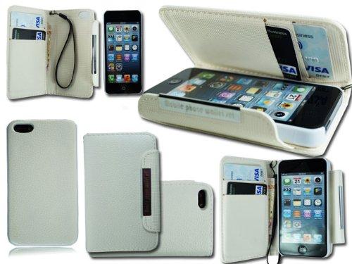 Neue 2in 1Leder Flip Wallet Phone Case für Apple i Phone 6+ Displayschutzfolie Wei� Wallet