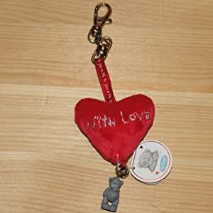 """Me to You Plüschherz an Karabiner """"With Love"""""""