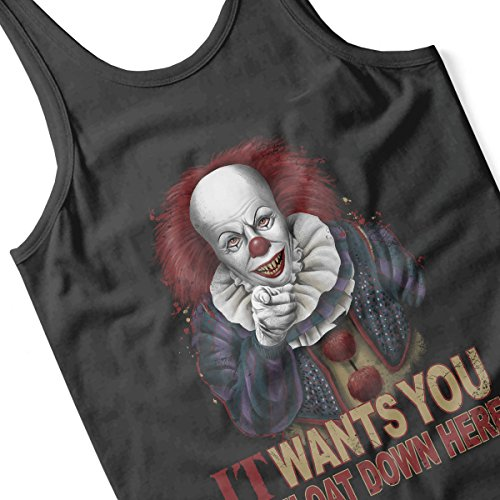 Stephen King Pennywise The Clown Uncle Sam Men's Vest Black