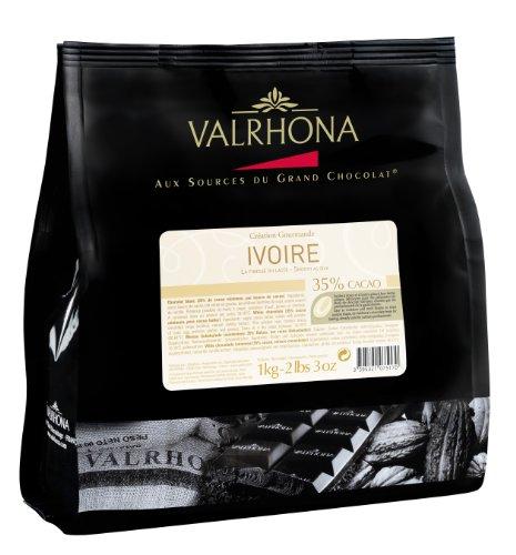 Fèves chocolat blanc IVOIRE Valrhona 1kg