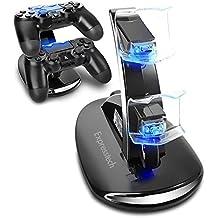 Expresstech @ Chargeur double LED Contrôleur de charge Support Dock Station Charge Rapide pour Playstation 4 PS4 PS4 Slim Pro contrôleur Dual Shock Manette